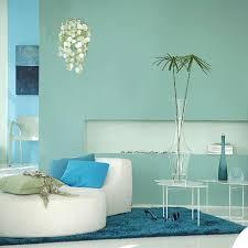 Lovely Sea Blue Living Room Idea