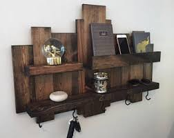 Rustic Wall Shelf Reclaimed Wood Pallet Floating