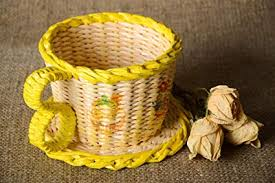Handmade Woven Paper Basket Box Design Newspaper Craft Gift Ideas