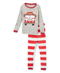 100 Fire Truck Pajamas Elowel Red Pajama Set Toddler Zulily