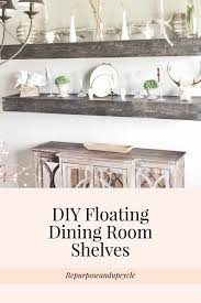 Here Are My DIY FLOATING SHELVES Mounted On The Wall