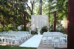 Simple Outdoor Wedding Ceremony White Outdoors