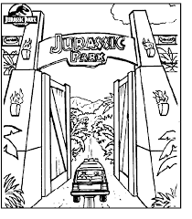 Download Coloring Pages Jurassic Park Design 25610 Coloringpagefree Free