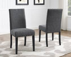 Dining Chairs Walmart Canada by Indira Dining Chair With Nail Head Trim Set Of 2 Grey Walmart