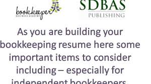 Download A Free Bookkeeper Resume Sample