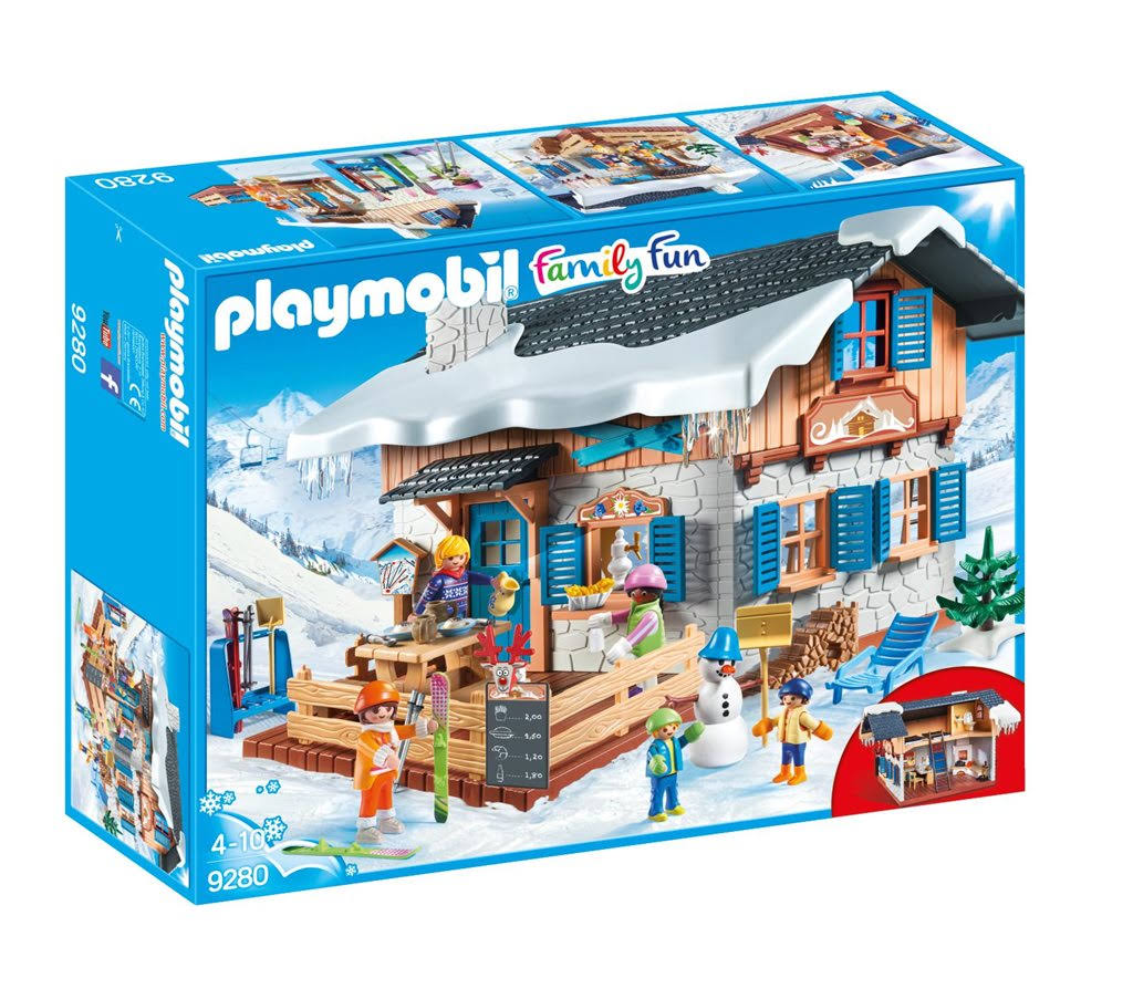 Playmobil Family Fun Ski Lodge Playset