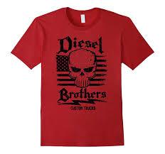 Amazon.com: Diesel Brothers Custom Trucks Skull USA Flag Graphic T ...