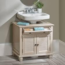 Bed Bath And Beyond Bathroom Cabinet Organizer by Newport Louvered Pedestal Sink Cabinet Pedestal Sink Personal