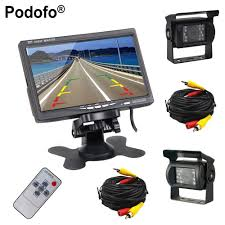 100 Backup Camera For Truck Podofo Dual And Monitor Kit Bus RV LED