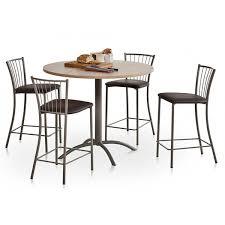 table ronde de cuisine table de cuisine stratifiée ronde avec pied central laser