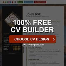 CVTemplate Free Online CV Builder Best CV Templates