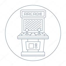 Mame Cabinet Plans Download by Simple Line Drawn Vintage Game Arcade Cabinet Icon Isolated