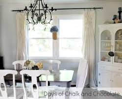 Smocked Burlap Curtain Panels by Smocked Drop Cloth Curtains Days Of Chalk And Chocolate