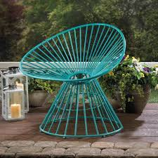 Stack Sling Patio Chair Turquoise by Teal Blue Patio Lounge Chair Patio Chair Outdoor Chairs Fanned
