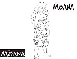 Dibujo Para Colorear De Princesa Moana Waialiki Personaje Película
