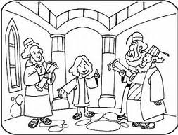 HD Wallpapers Coloring Pages Jesus As A Boy In The Temple