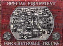 100 Truck Accessories Chevrolet 1951 Silver Book Special Equipment Dealer Album