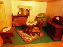 altes puppenstuben wohnzimmer möbel gründerzeit sofa kamin