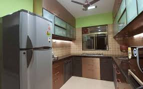 Large Kitchen With Tiles And Cabinets Design By Rajiv Garg Interior Designer In Mumbai