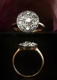 So Im Dying Over This 1900s Mine Cut Diamond Cluster Ring