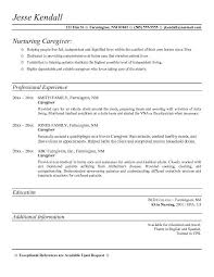 Caretaker Resume Examples 11 Recent For Caregiver Template Resumes Of 28 Printable