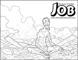 The Heroes Of Bible Coloring Pages Job