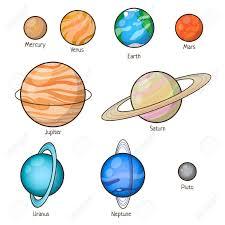 Set Solar System Planets Mercury Venus Earth Mars Jupiter