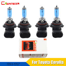 cawanerl for toyota corolla 1993 1997 2 pair 9005 9006 100w car