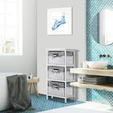 casaria korbregal badregal mit 3 körben landhaus stil paulownia holz bad küchen regal kommode anrichte schublade farbe schwarz weiß