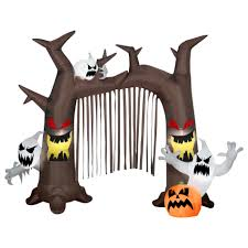 Halloween Blow Up Decorations by Airblown Haunted Tree Archway Halloween Decoration