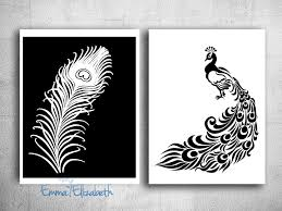 Etsy Bathroom Wall Art by Peacock Feather Home Decor Home Decor Bathroom Wall Decor