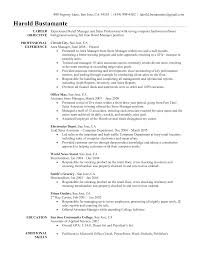 Sales Resume Retail Manager Objective Examples Pdf