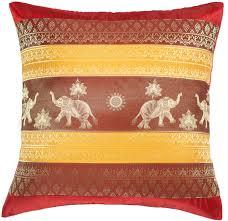 Decorative Couch Pillows Amazon by Amazon Com Avarada 16x16 Inch 40x40 Cm Print Elephant Sun