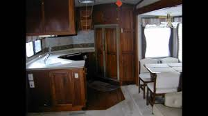 Travel Trailer Floor Plans Rear Kitchen by 1998 37 5 Ft Avion W 3 Slides Upgraded Walnut W Rear Kitchen