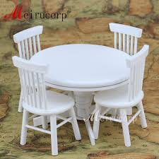 Amazon.com: Dollhouses 1/12 Scale Miniature Furniture White Round ... Brynwood White 5 Pc Round Ding Set With Blue Chairs Room Carmilla Damask Chair Espresso Wood Decor Black Contemporary With Wooden Table And Perfect Navy House Seven Design Build Shop Hanover Traditions 5piece In 4 And Farmhouse Fniture Skagen Round Table Oak Gripsholm Chair Entrancing New Roll Squire Parsons Slipcover Rectangle Brown Legs Combined Excerpt Shabby In A Range Of Styles Ireland Dfs Ideas Ikea