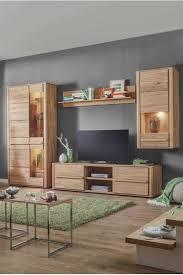 wohnwand eichefarben massivholz wohnen wohnzimmer design