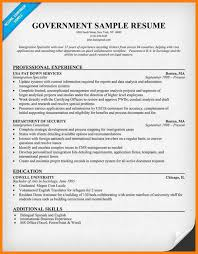 Government Job Resume Samplefederal Builder Federal Sample And Usa Jobs