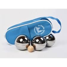jeu de 3 boules de pétanque loisir avec sacoche