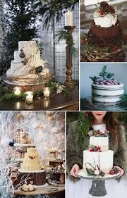 Winter Woodland Wedding Cake Inspiration