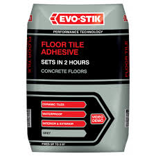 evo stik floor tile adhesive fast set for wood and concrete floors