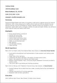 1 Retail Banker Resume Templates Try Them Now