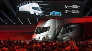 Tesla, Elon Musk Unveil Electric Semi-Truck | Transport Topics Tesla In Spotlight With Beast Electric Semitruck Elon Musk On The Electric Pickup Truck How About A Mini Semi Get Ready For Pickup And Heavyduty Truck Looks Like New Iepieleaks Vows To Build Right After Model Y Sued 2 Billion By Hydrogen Startup Over Alleged Leaked Image Of Spxmasterrace Plans Sell Trucks Big Semis Pickups Too Extremetech Just Received Its Largest Preorder Yet The Verge Teslas Said Companys Semi Will Reveals Roadster