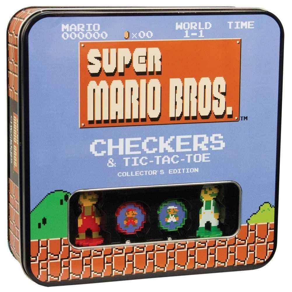 Super Mario Checkers & Tic Tac Toe Game