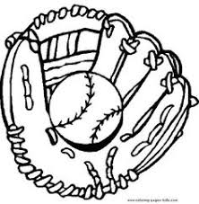 Baseball And Glove Color Page Ball Sports Coloring Pages Plate