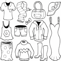 Clothes Coloring Pages Surfnetkids