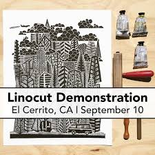 Ive Been Invited By The El Cerrito Art Association To Give A Linocut Demonstration