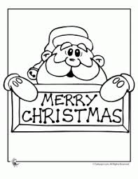Merry Christmas Santa Coloring Page