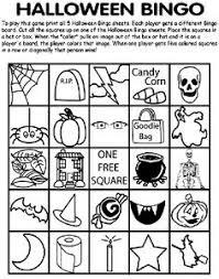 Crayola Halloween Bingo Coloring Page