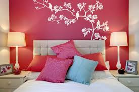 Teenage Girl Bedroom Wall Designs Home Trends Including Simple For Picture Ideas Girls Presenting Red Paint Inspiring