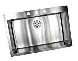 19 X 33 Drop In Kitchen Sink by 33 Inch Top Mount Drop In Stainless Steel Single Bowl Kitchen